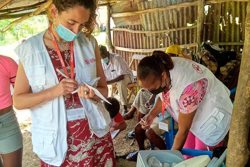 Experto en cooperación enfermera de Fuden, prácticas en el terreno