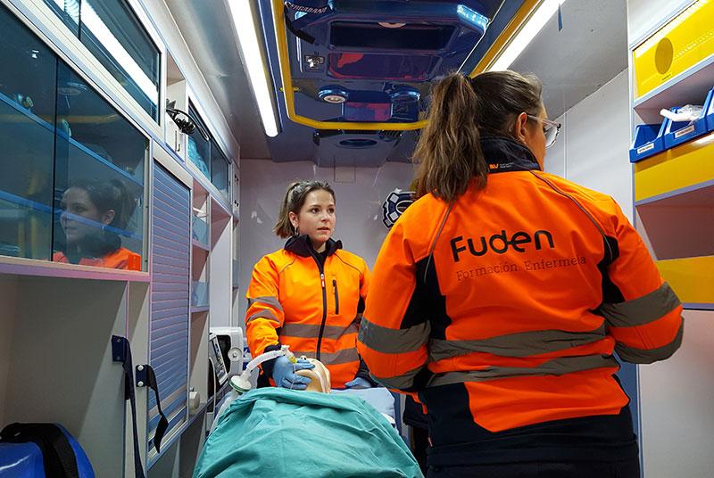 Ambulancia del Centro de Simulación Clínica de Fuden