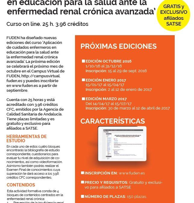 Cursa en septiembre la próxima edición de nuestro curso gratuito on line sobre nefrología