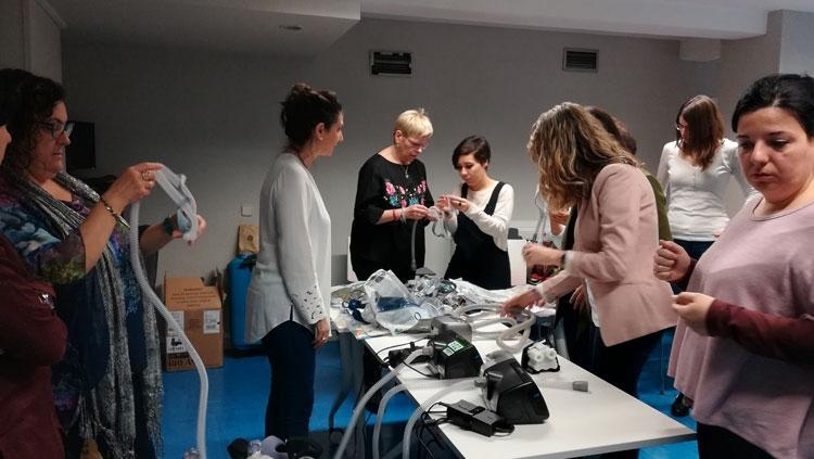 Continúa la formación de postgrado FUDEN – UCAV con las prácticas de nuestro experto en enfermería respiratoria