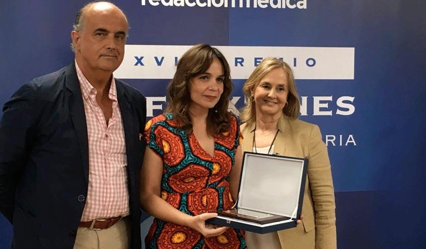 Dña. Amelia Amezcua, galardonada con un accésit de los XVII Premios Reflexiones