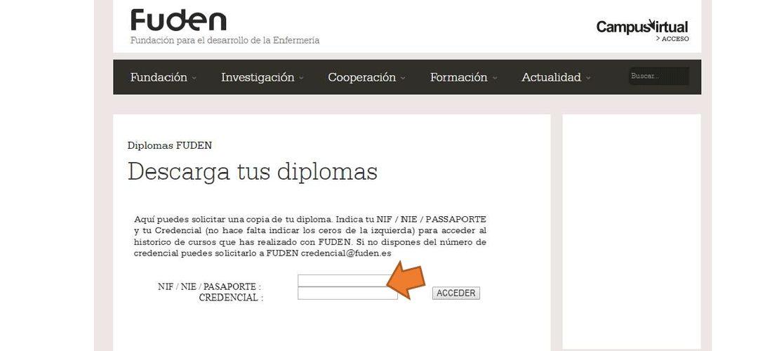 Descarga tu diploma FUDEN de manera online