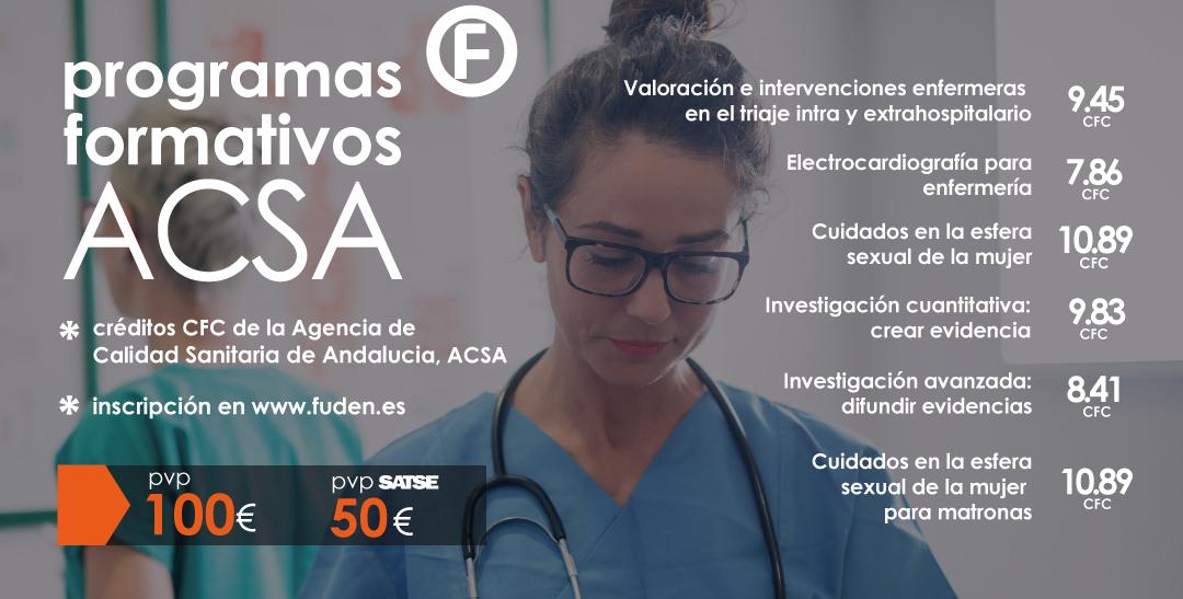 Programas ACSA: nueva edición. Créditos CFC.